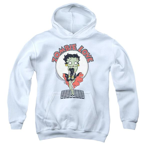 Betty Boop Breezy Zombie Love Youth Pull Over Hoodie