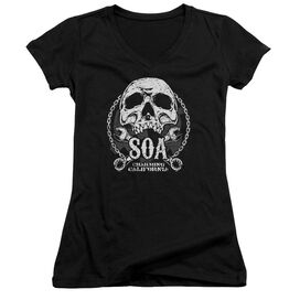 Sons Of Anarchy Soa Club Junior V Neck T-Shirt