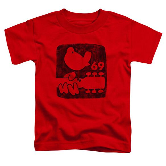 Woodstock Summer 69 Short Sleeve Toddler Tee Red T-Shirt