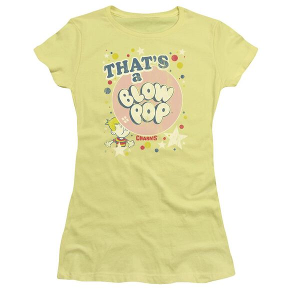 Tootsie Roll That's A Blow Pop Short Sleeve Junior Sheer T-Shirt