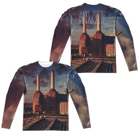 Pink Floyd Animals (Front Back Print) Long Sleeve Adult Poly Crew T-Shirt