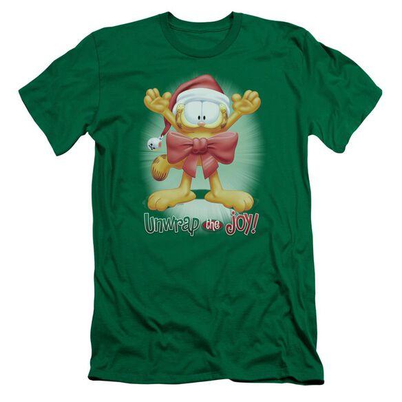 Garfield Unwrap The Joy! Premuim Canvas Adult Slim Fit Kelly