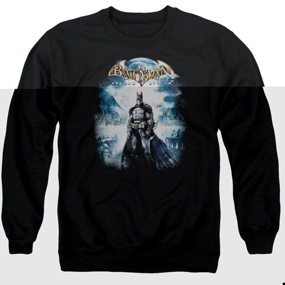 Batman Aa Game Cover - Adult Crewneck Sweatshirt - Black