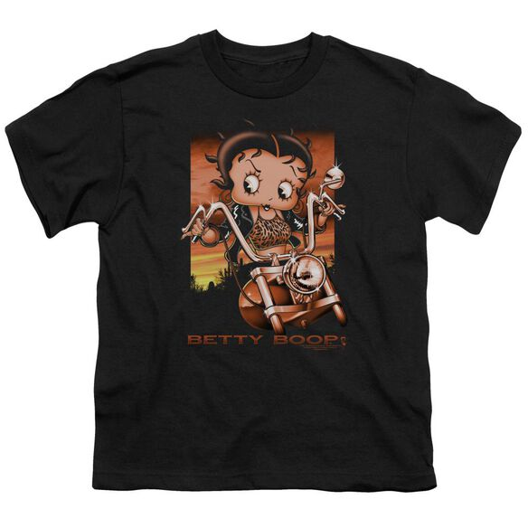 Betty Boop Sunset Rider Short Sleeve Youth T-Shirt