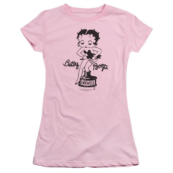 Betty Boop Inkwell Short Sleeve Junior Sheer T-Shirt