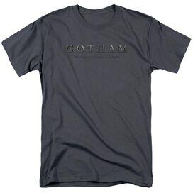 Gotham Logo Short Sleeve Adult Charcoal T-Shirt