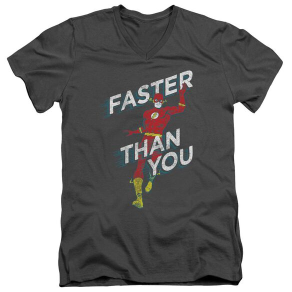 Dc Faster Than You Short Sleeve Adult V Neck T-Shirt