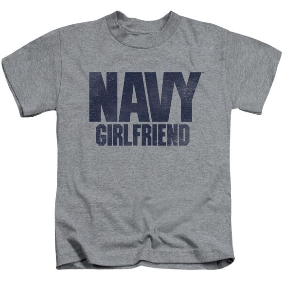 Navy Girlfriend Short Sleeve Juvenile Athletic T-Shirt
