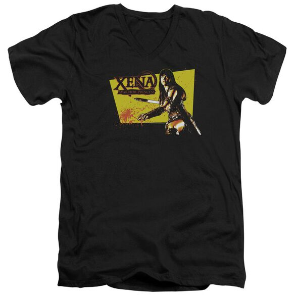 Xena Cut Up Short Sleeve Adult V Neck T-Shirt