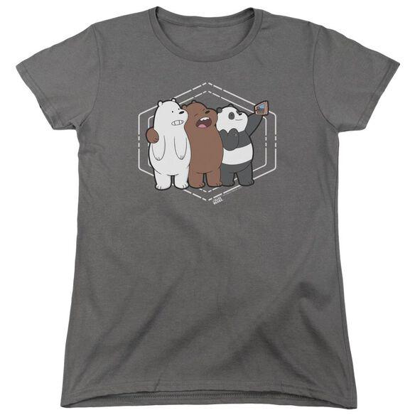 We Bare Bears Selfie Short Sleeve Women's Tee T-Shirt