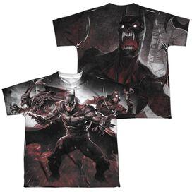 Infinite Crisis Ic Batman (Front Back Print) Short Sleeve Youth Poly Crew T-Shirt