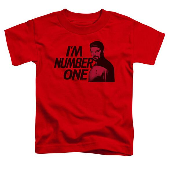 Star Trek Im Number One Short Sleeve Toddler Tee Red Md T-Shirt