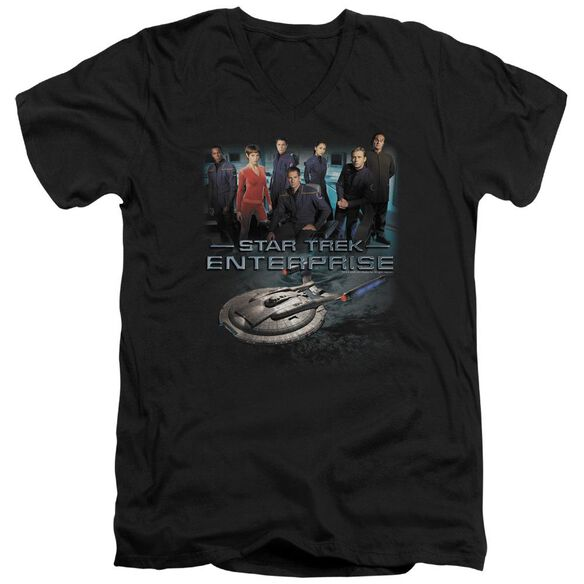 Star Trek Enterprise Crew Short Sleeve Adult V Neck T-Shirt