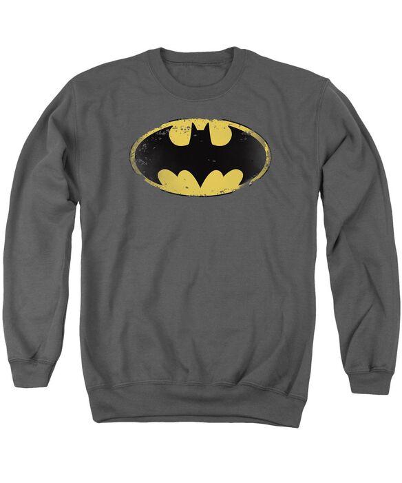 Batman Distressed Shield Adult Crewneck Sweatshirt