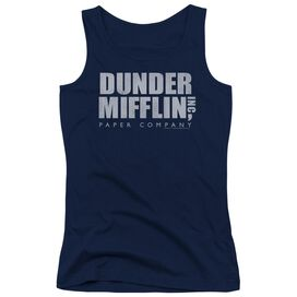 The Office Dunder Mifflin Distressed Juniors Tank Top