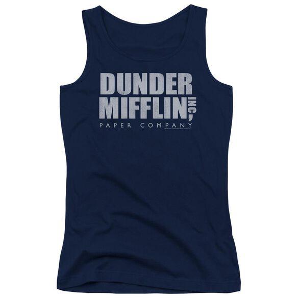 The Office Dunder Mifflin Distressed Juniors Tank Top