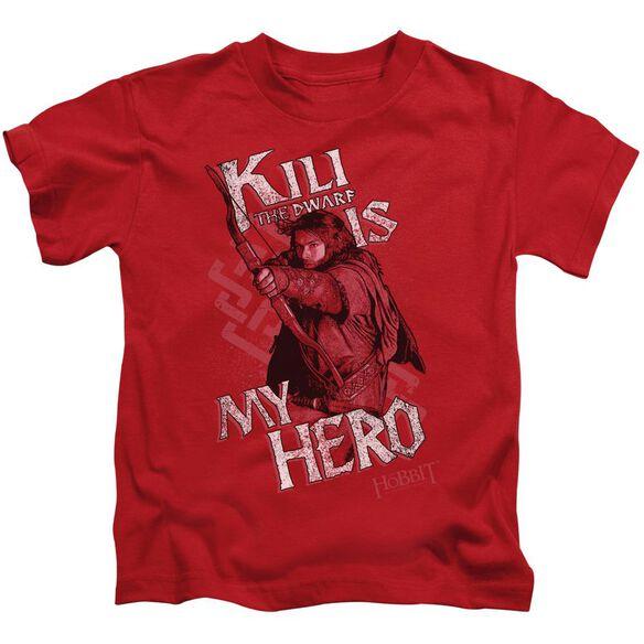 The Hobbit Kili Is My Hero Short Sleeve Juvenile Red T-Shirt