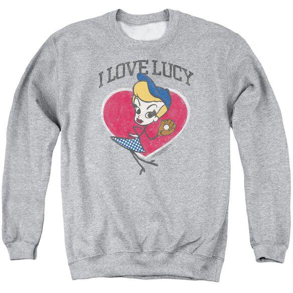 I Love Lucy Baseball Diva Adult Crewneck Sweatshirt Athletic