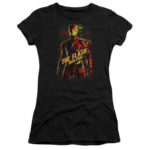 Justice League Movie The Flash Short Sleeve Junior Sheer T-Shirt