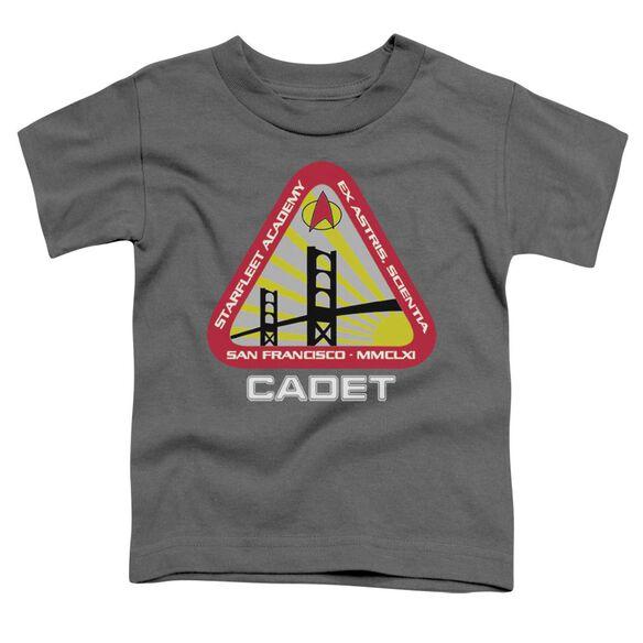 Star Trek Starfleet Cadet Short Sleeve Toddler Tee Charcoal Sm T-Shirt