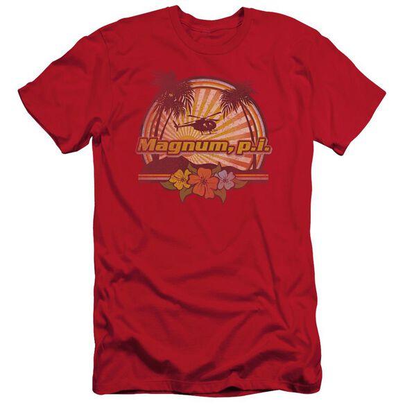 Magnum Pi Hawaiian Sunset Short Sleeve Adult T-Shirt