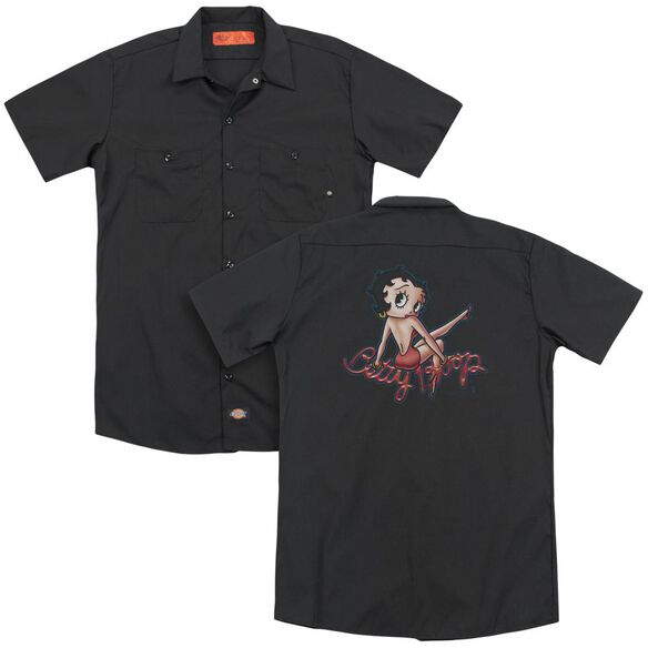 Betty Boop Betty's Back (Back Print) Adult Work Shirt