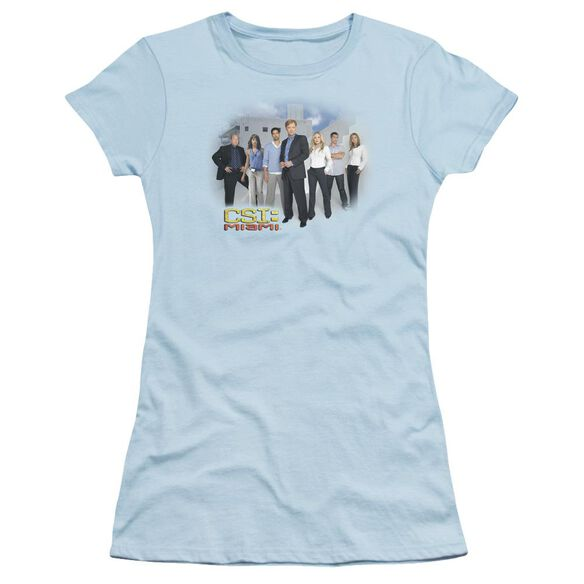 Csi Miami Cast Short Sleeve Junior Sheer Light T-Shirt