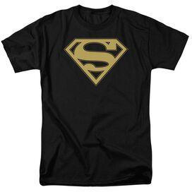 Superman Gold & Shield Short Sleeve Adult T-Shirt