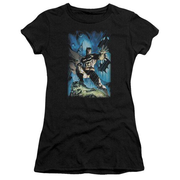 Batman Stormy Dark Knight Short Sleeve Junior Sheer T-Shirt