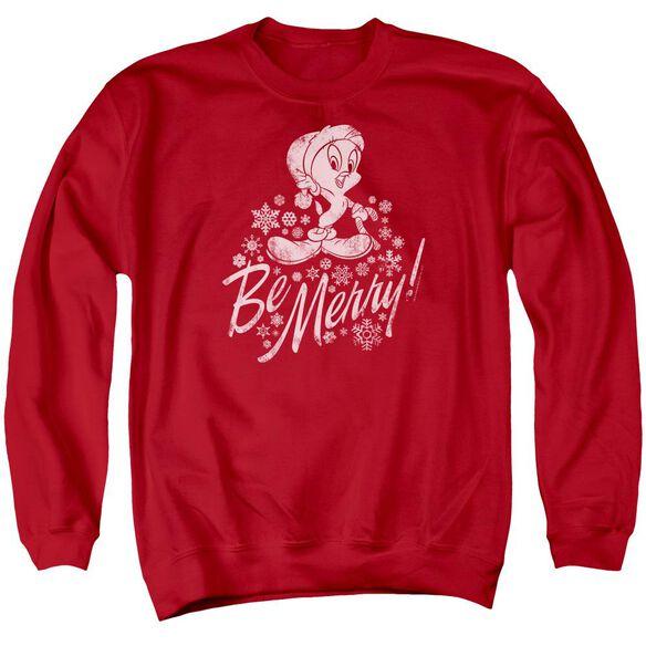 Looney Tunes Merry Tweety Adult Crewneck Sweatshirt
