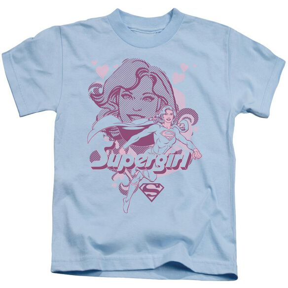 Dc Supergirl Short Sleeve Juvenile Light Blue T-Shirt