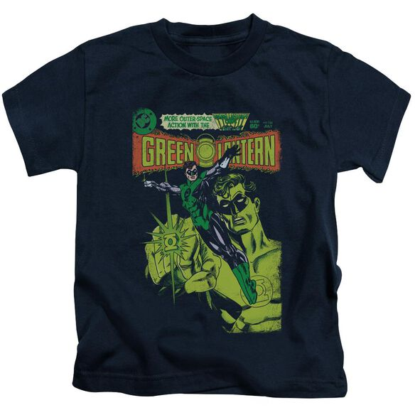 Green Lantern Vintage Cover Short Sleeve Juvenile Navy T-Shirt