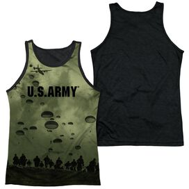 Army Air To Land Adult Poly Tank Top Black Back