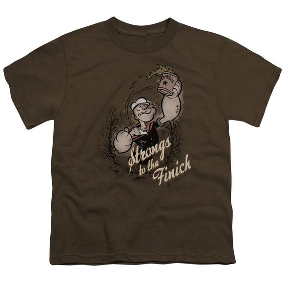 Popeye Strong To Tha Finish Short Sleeve Youth T-Shirt