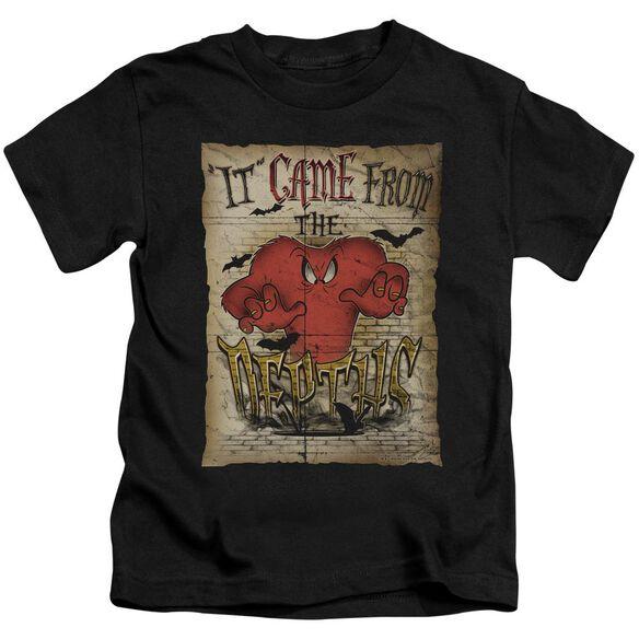 Looney Tunes The Depths Short Sleeve Juvenile Black T-Shirt