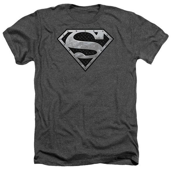 Superman Super Metallic Shield Adult Heather