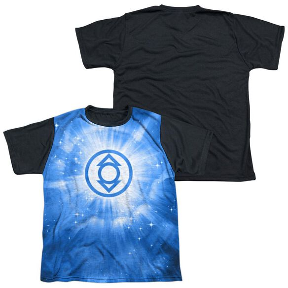 Green Lantern Indigo Energy Short Sleeve Youth Front Black Back T-Shirt
