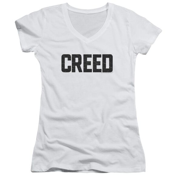 Creed Cracked Logo Junior V Neck T-Shirt