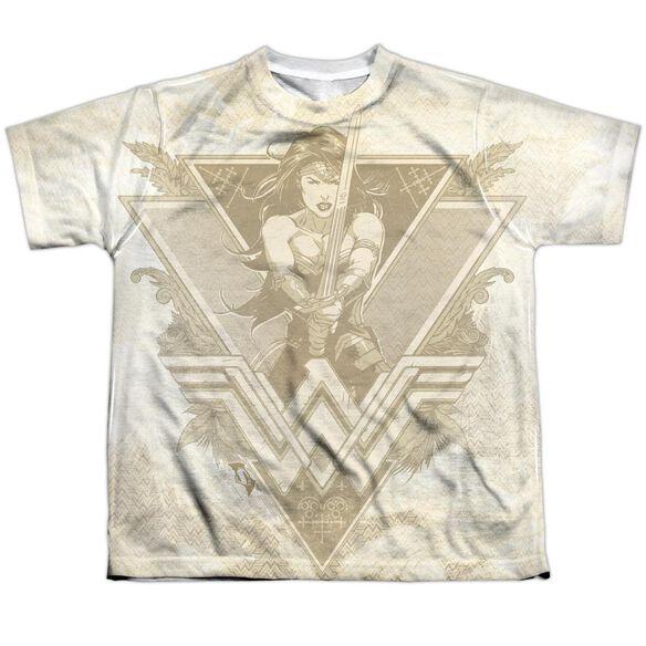 Batman V Superman Greek Goddess Short Sleeve Youth Poly Crew T-Shirt