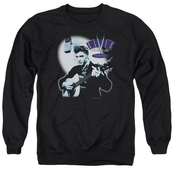 Elvis Hillbilly Cat Adult Crewneck Sweatshirt