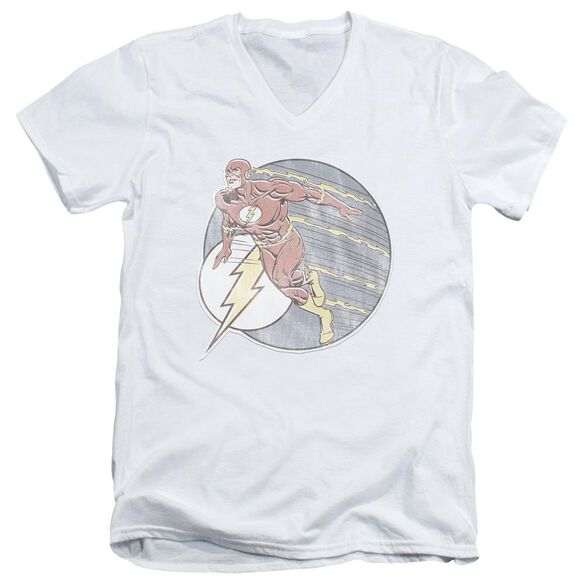 Dco Retro Flash Iron On Short Sleeve Adult V Neck T-Shirt
