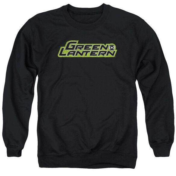 Green Lantern Scribble Title Adult Crewneck Sweatshirt