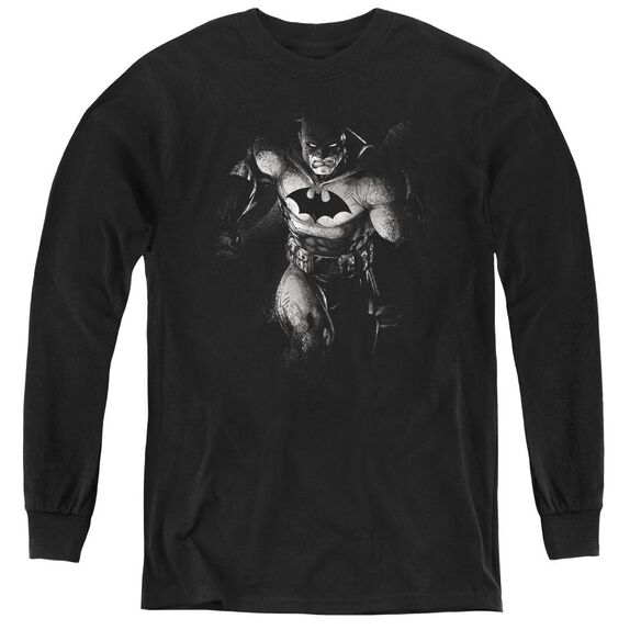 Batman Materialized - Youth Long Sleeve Tee - Black