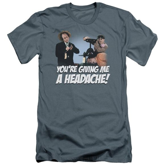 Three Stooges Headache Premuim Canvas Adult Slim Fit