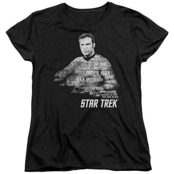 Star Trek Kirk Words Short Sleeve Womens Tee T-Shirt