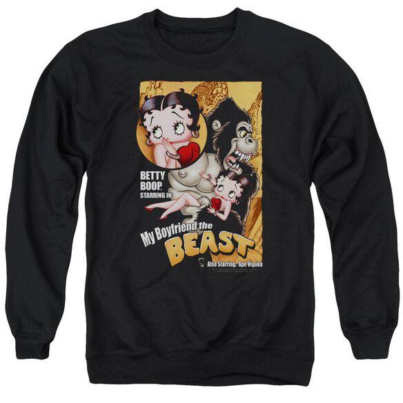 Betty Boop Boyfriend The Beast Adult Crewneck Sweatshirt