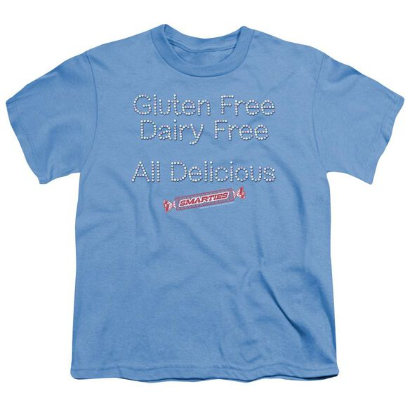 SMARTIES FREE & DELICIOUS - S/S YOUTH 18/1 - CAROLINA BLUE T-Shirt