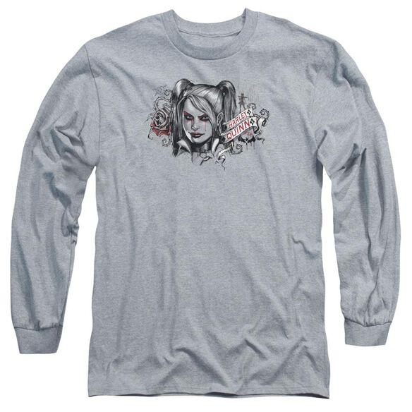 Batman Arkham Knight Hq Sketch Long Sleeve Adult Athletic T-Shirt