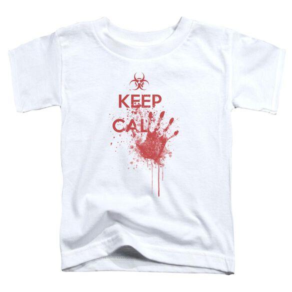 Keep Cal Short Sleeve Toddler Tee White Lg T-Shirt