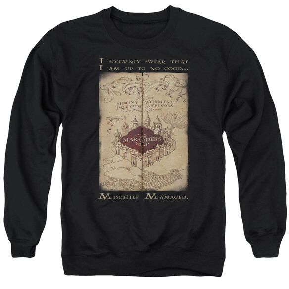Harry Potter Marauder's Map Words Adult Crewneck Sweatshirt